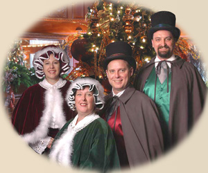 Victorian costumed Christmas carolers in Minneapolis