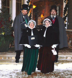 Outdoor caroling in Plymouth, MN